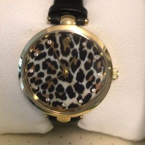 Kate SpadeLeopard Print w/ diamonds Watch
